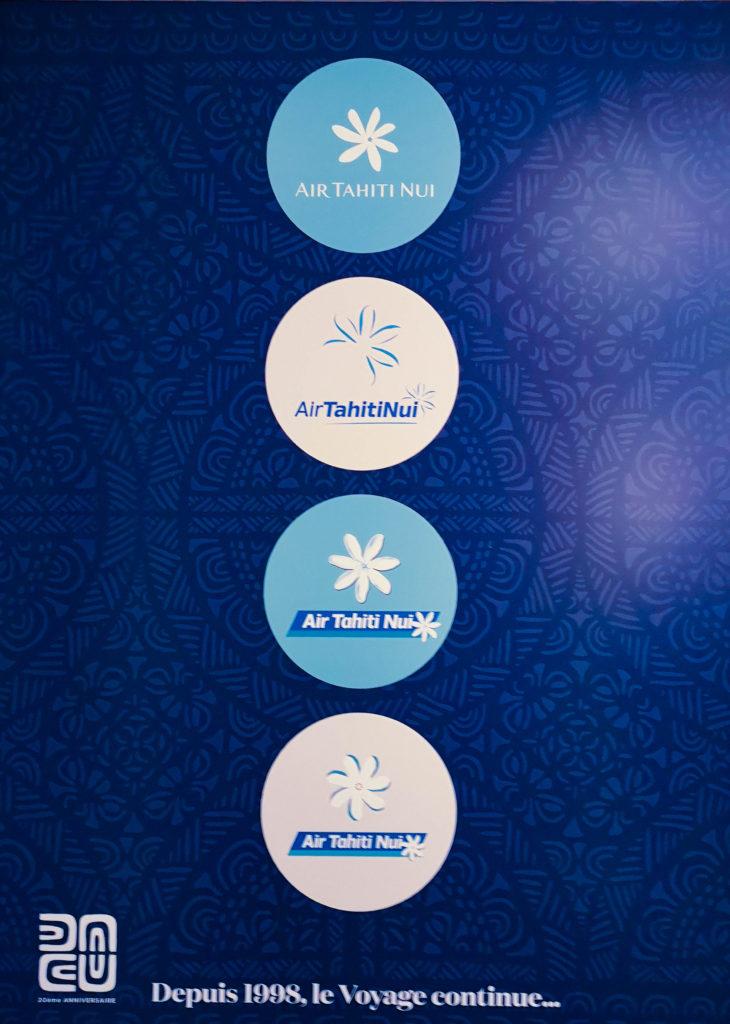 L'évolution du logo d'Air Tahiti Nui