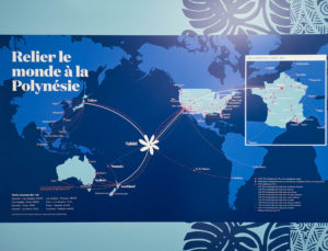 Les destinations desservies par Air Tahiti nui